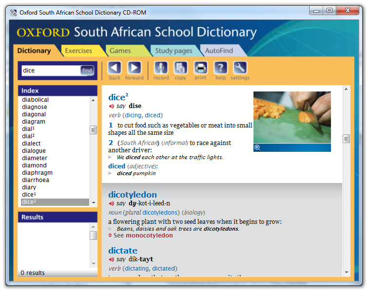 Oxford Electronic Dictionary