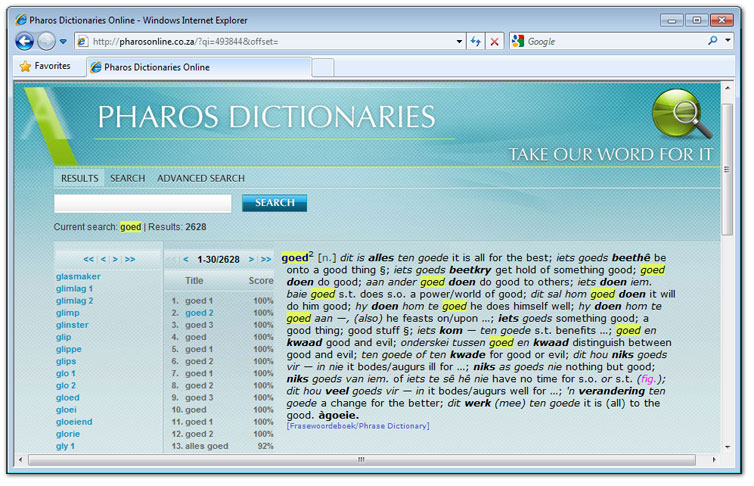 [Pharos Dictionaries Online]